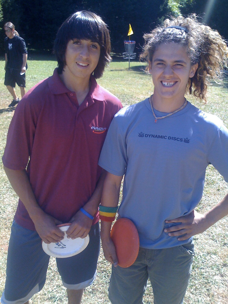 Rock's Photo Op: Paul McBeth (left) and Nikko Locastro in 2008.