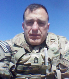 A picture of Ben Shinn when he was deployed to Afghanistan in 2013.