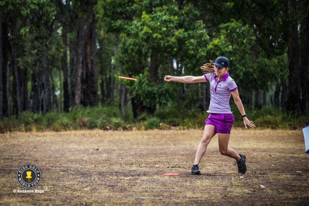 Paige Pierce lighting it up at the Aussie Open