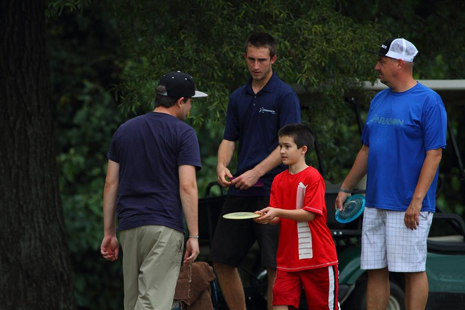 Wysocki with his brother Zack, who caddied for him in 2014.