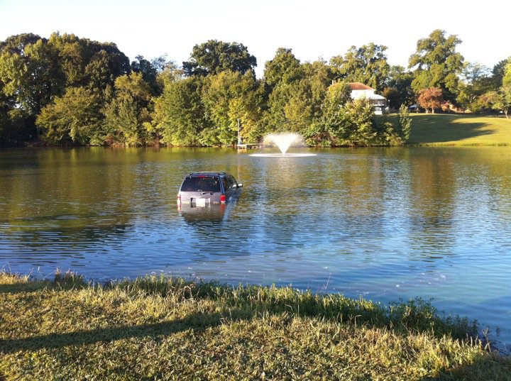 Explorer driven into Lake